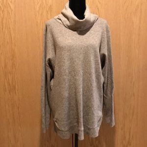 Super Soft Tan Heather Cowl Tunic